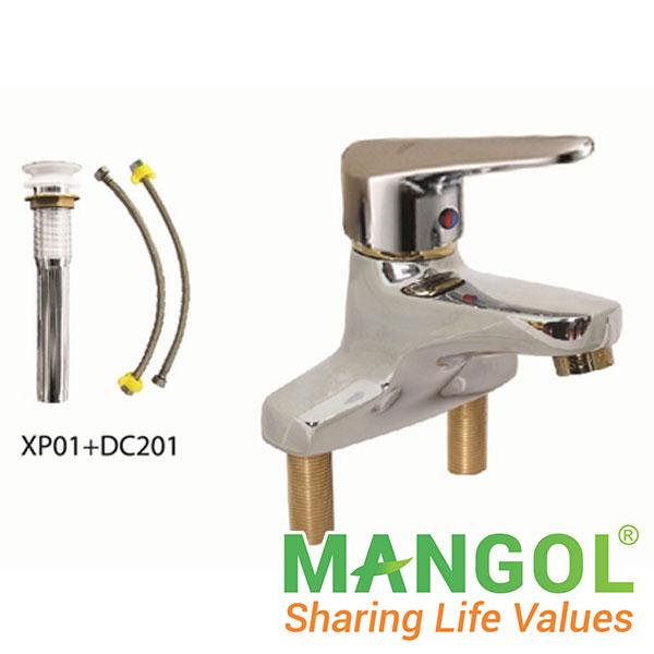 Bộ vòi chậu rửa nóng lạnh MANGOL MG306 1