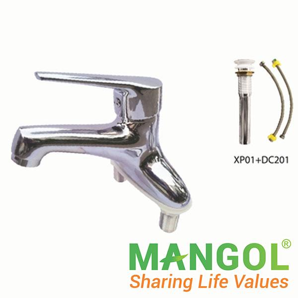 Bộ vòi chậu rửa nóng lạnh Mangol MG308 1