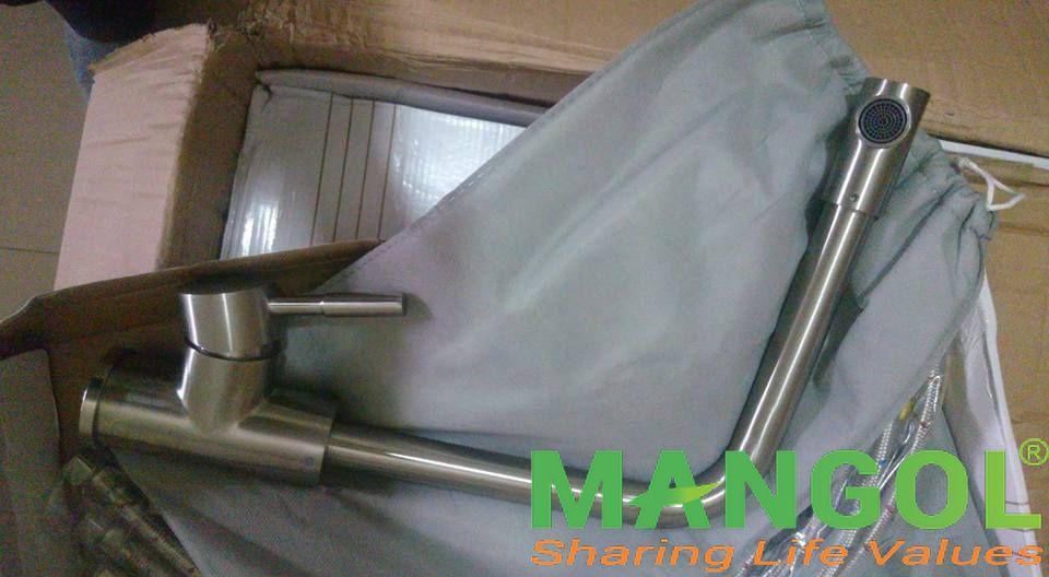 Vòi rửa bát inox 304 cao cấp MG803 3
