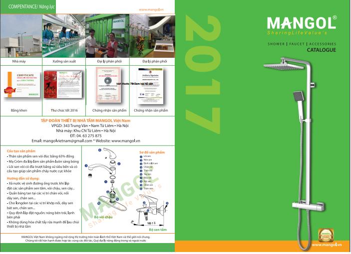 Thiết bị vệ sinh sen vòi Mangol lộ diện Catalogue vào tháng 6/2017 15