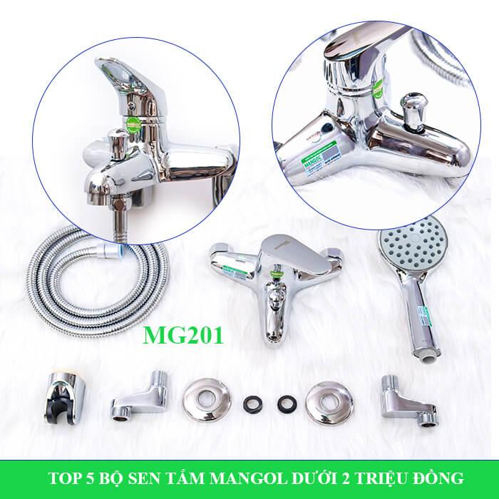 Bộ sen tắm nóng lạnh Mangol Mg201
