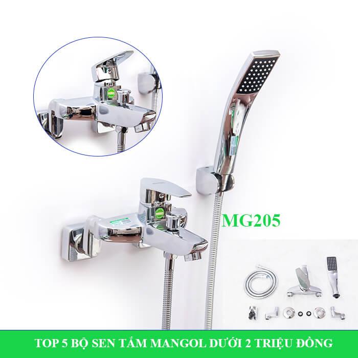 Bộ sen tắm nóng lạnh Mangol Mg205