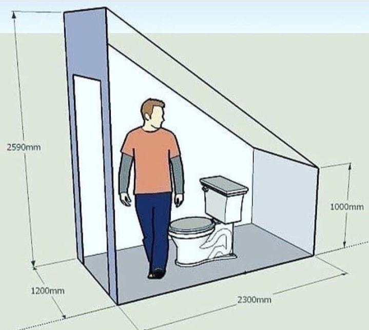 Thiết kế nhà vệ sinh dưới gầm cầu thang
